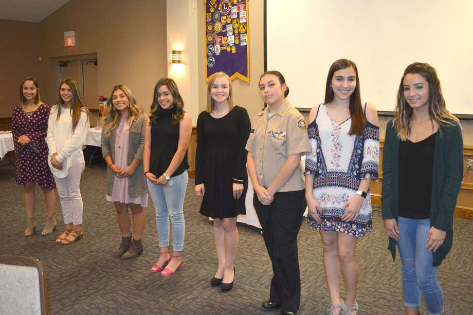 Candidates in the Plainview Lions Club Queen Contest were introduced at Wednesday's club meeting. The event will begin at 6:30 p.m. Thursday, Oct. 26, in the auditorium at the Jimmy Dean Museum/Llano Estacado Museum on the Wayland Baptist University contest. It's open to the public at no charge. Contestants include Morgan Juarez, daughter of Jenifer and Jereniah DeLeon, and Merced and Ashley Juarez; Nayeli Benavides, daughter of Angelica Soliz; Lauren Alderete, daughter of Rick and Jan Sanchez; Bryanna Mora, daughter of Liz Rojas and Rey Mora; Grace Shaw, daughter of Dr. Rick and Martha Shaw; Heather Escamilla, daughter of Paul and Jennifer Escamilla; Andrea Lara, daughter of Dr. Sergio and Claudia Lara; and Brisa Gonzalez, daughter of Jesus Gonzalez and Elsa Soto.