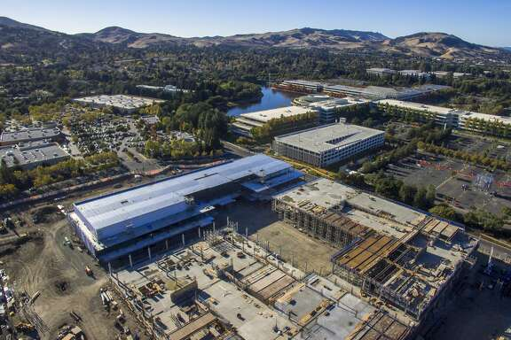 The construction site for the new City Center Bishop Ranch, located at Bishop Drive and Camino Ranch, Saturday, Oct. 21, 2017, in San Ramon, Calif. Renzo Piano, the designer of the California Academy of Sciences and Italy's most revered architect, is designing the shopping center.