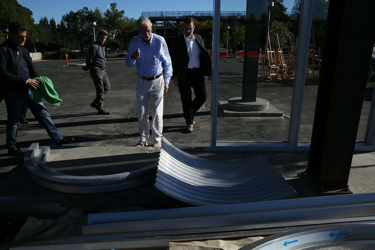 Renzo Piano at the construction site of the new City Center Bishop Ranch on Bishop Drive and Camino Ranch, Saturday, Oct. 21, 2017, in San Ramon, Calif. Renzo Piano, the designer of the California Academy of Sciences and Italy's most revered architect, is designing a shopping center in San Ramon that's now under construction.
