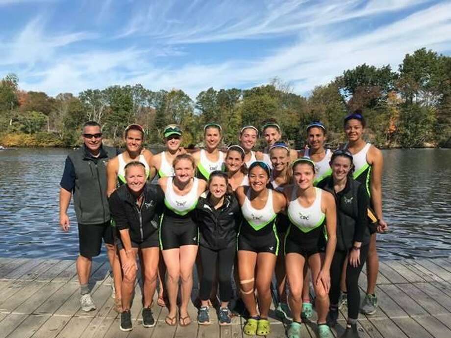 The Norwalk-based Connecticut Boat Club raced in the 53nd Head of the Charles Regatta in Cambridge, Mass., which is a 3-mile-long course and is the world's largest regatta attracting thousands of athletes from all over the world. The Women's Youth 8 placed seventh beating last year's placement of 10th place out of 85 boats. This win guarantees the Varsity 8 a place in next year's race. Also competing this year was the CBC Women's Youth Coxed Quad ,which was a first for CBC and the second time only the regatta has held this event. Below are the athletes who competed: Women's Youth 8: Cece Challe of New Canaan (coxswain), Julia Abbruzzese of Darien and Ridgefield, Ella Petreski of Pound Ridge N.Y., Heidi Jacobson of Greenwich, Olivia Luther of Fairfield, Catherine Garrett of Darien, Ellie Urdang of Greenwich, Kat Kern of Greenwich., and Jenna Macrae of Stamford; Women's Youth Coxed Quad: Bella Fox of Wilton (coxswain), Paige Purcel of Ridgefield, Eleanor Imire of Wilton, Bridget Galloway of Ridgefield, and Lelah Conway of Wilton Photo: Contributed Photo
