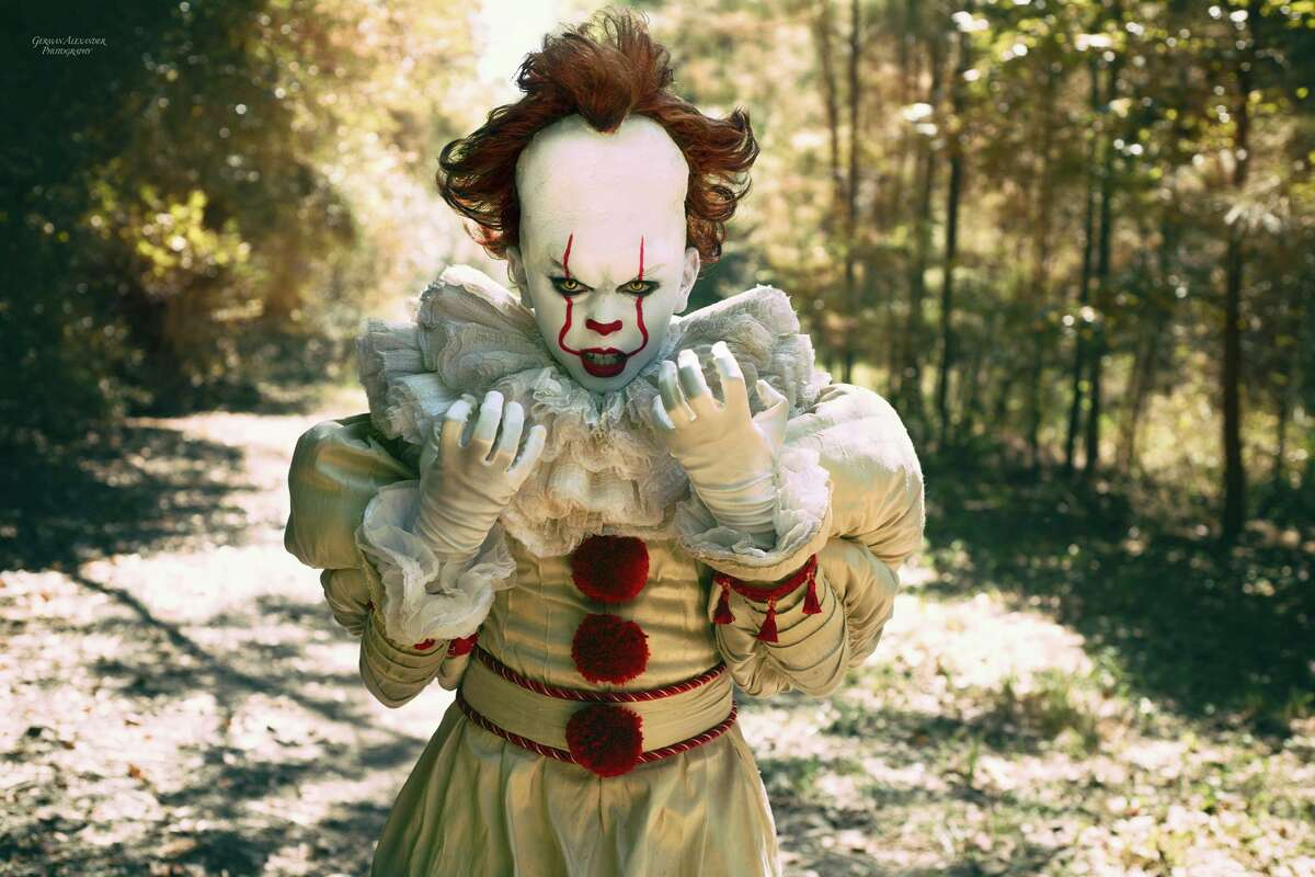 Ten-year-old Jordan Alexander Penilla has been playing scary dress-up since before he could read. His latest character will chill most anyone to the bone. With the help of Houston photographer German Alexander and a team of stylists, Penilla's latest set features him stepping into the Pennywise the clown character from fall horror smash