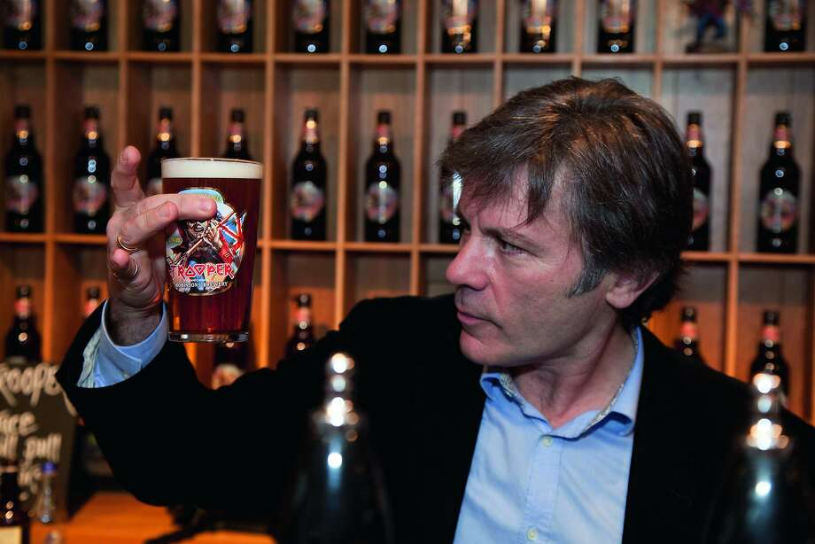 """Bruce Dickinson, lead singer for the British heavy metal band Iron Maiden, is also a brewer of beer. The band's brand is called """"Trooper"""" and brewed by Robinson's in the UK. Its name is based on a song of the same name written by the band in 1983, based on the Charge of the Light Brigade at the Battle of Balaclava 1854 during the Crimean War, and inspired by a poem of the same name by Lord Tennyson. Photo: Maiden Brews"""