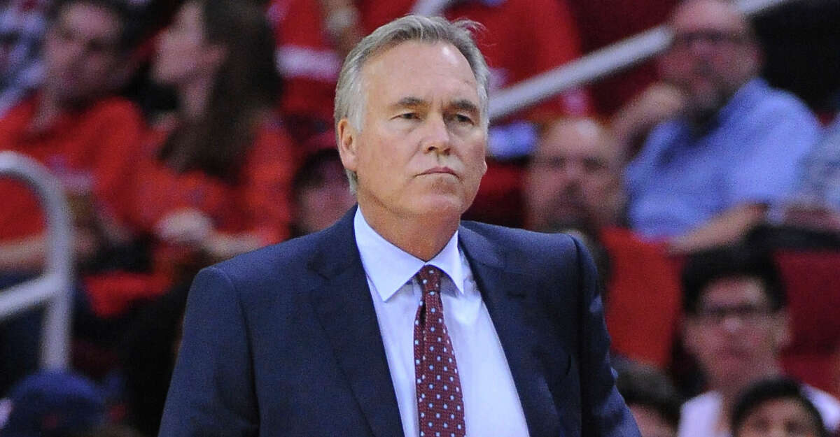 Houston Rockets head coach Mike D'Antoni is shown during an NBA basketball game Saturday, Oct. 21, 2017, in Houston. (AP Photo/George Bridges)