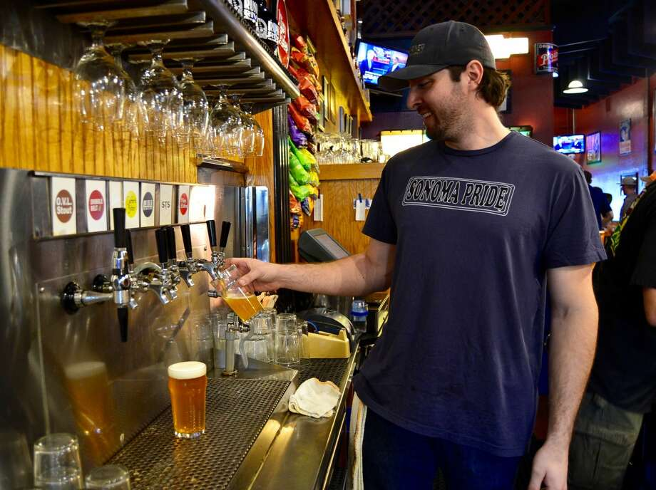 Russian River Brewing Company raises money for Sonoma County fire relief through Sonoma Pride, a fundraising plan involving 50 breweries. Photo: Alyssa Pereira / SFGATE