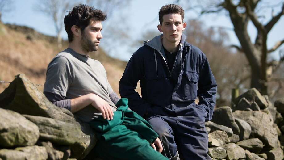 """Romanian migrant worker Gheorghe, played by Alec Secareanu (left), falls for Yorkshire sheep farmer Johnny, played by Josh O'Connor, in the romantic drama """"God's Own Country."""" Photo: Sony Pictures Classics"""