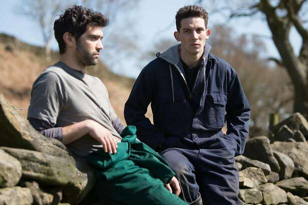 Romanian migrant worker Gheorghe (Alec Secareanu, left) falls for Yorkshire sheep farmer Johnny (Josh O�Connor) in the romantic drama �God�s Own Country.�