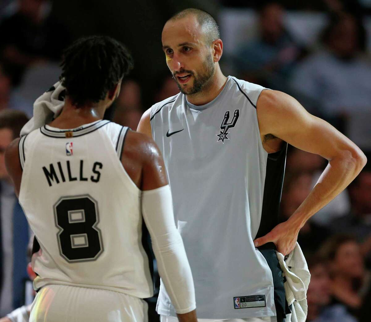 Spurs legend Manu Ginobili congratulated former teammate Patty Mills for beating his three-pointer record on Monday.