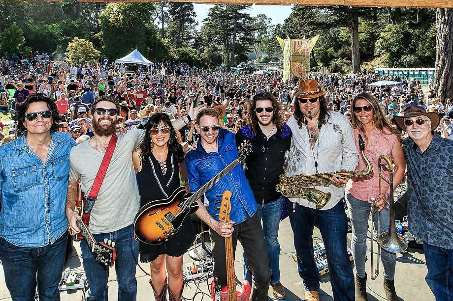 Midnight North, seen at Hardly Strictly Bluegrass earlier this month, has emerged from roots in Marin County to enjoy harmonic success. Photo: John Margaretten