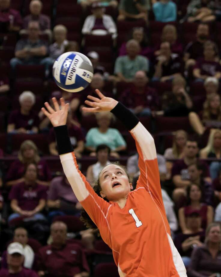 Sam Houston State volleyball player Jaclyn Ward. Ward is a 2015 graduate of Oak Ridge High School. Photo: Russell James