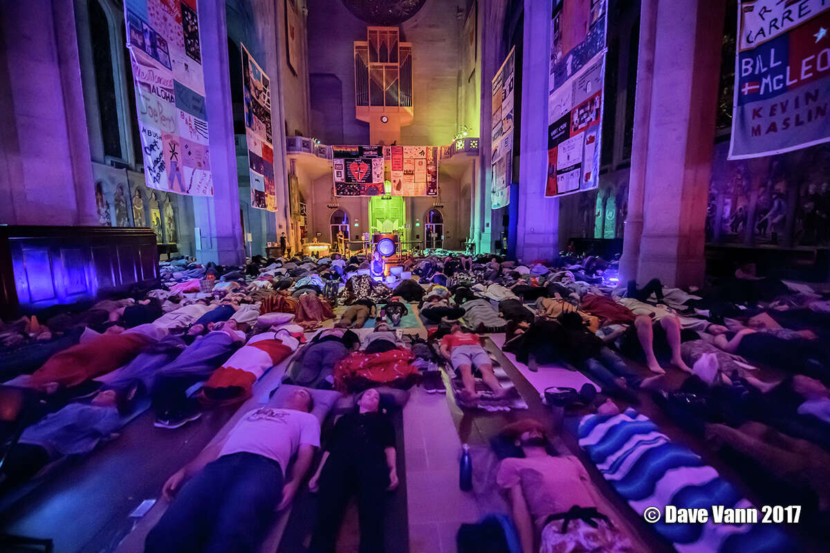 Scenes from a Sound Healing Symphony on Oct. 23, 2017 at Grace Cathedral in San Francisco.