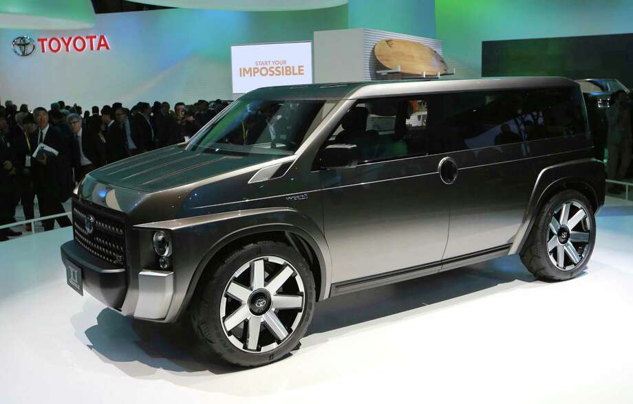 A Toyota TJ Cruiser concept car is displayed during the media preview of the Tokyo Motor Show in Tokyo Wednesday, Oct. 25, 2017. (AP Photo/Eugene Hoshiko) Photo: Eugene Hoshiko, STF / Copyright 2017 The Associated Press. All rights reserved.