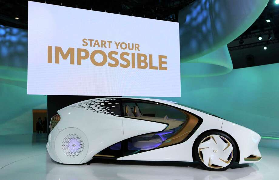A Toyota Concept-i concept car is displayed during the media preview of the Tokyo Motor Show in Tokyo Wednesday, Oct. 25, 2017. (AP Photo/Eugene Hoshiko) Photo: Eugene Hoshiko, STF / Copyright 2017 The Associated Press. All rights reserved.