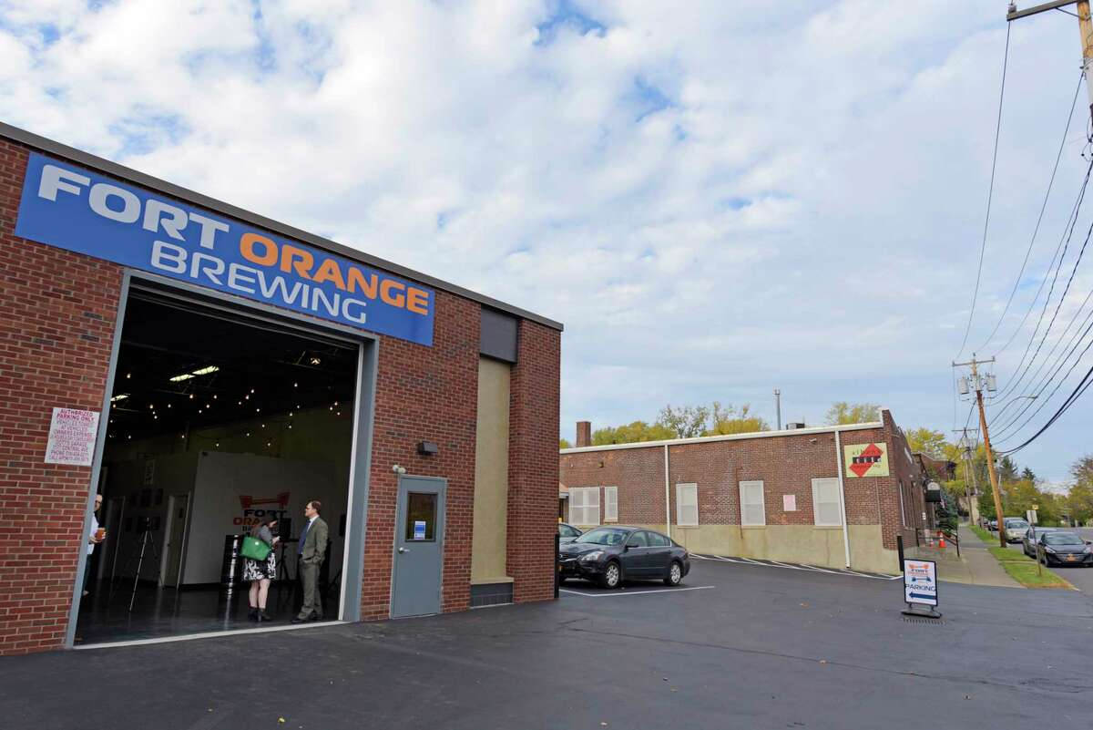 Fort Orange Brewing in Albany is participating in the NYS Shot & a Beer program to promote coronavirus vaccination. (Paul Buckowski/Times Union)