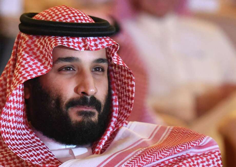 "Saudi Crown Prince Mohammed bin Salman attends the Future Investment Initiative (FII) conference in Riyadh, on October 24, 2017. The Crown Prince pledged a ""moderate, open"" Saudi Arabia, breaking with ultra-conservative clerics in favour of an image catering to foreign investors and Saudi youth.  ""We are returning to what we were before -- a country of moderate Islam that is open to all religions and to the world,"" he said at the economic forum in Riyadh.  / AFP PHOTO / FAYEZ NURELDINEFAYEZ NURELDINE/AFP/Getty Images Photo: FAYEZ NURELDINE, Contributor / AFP or licensors"