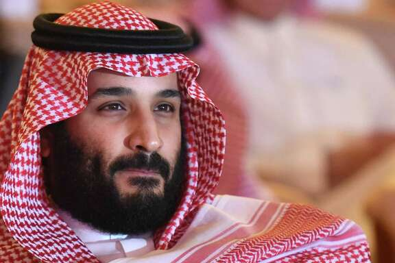 "Saudi Crown Prince Mohammed bin Salman attends the Future Investment Initiative (FII) conference in Riyadh, on October 24, 2017. The Crown Prince pledged a ""moderate, open"" Saudi Arabia, breaking with ultra-conservative clerics in favour of an image catering to foreign investors and Saudi youth.  ""We are returning to what we were before -- a country of moderate Islam that is open to all religions and to the world,"" he said at the economic forum in Riyadh.  / AFP PHOTO / FAYEZ NURELDINEFAYEZ NURELDINE/AFP/Getty Images"