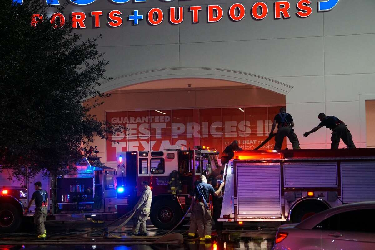 More than 30 firefighters responded to a fire at a Northwest Side shopping center Wednesday Oct. 25,2017.