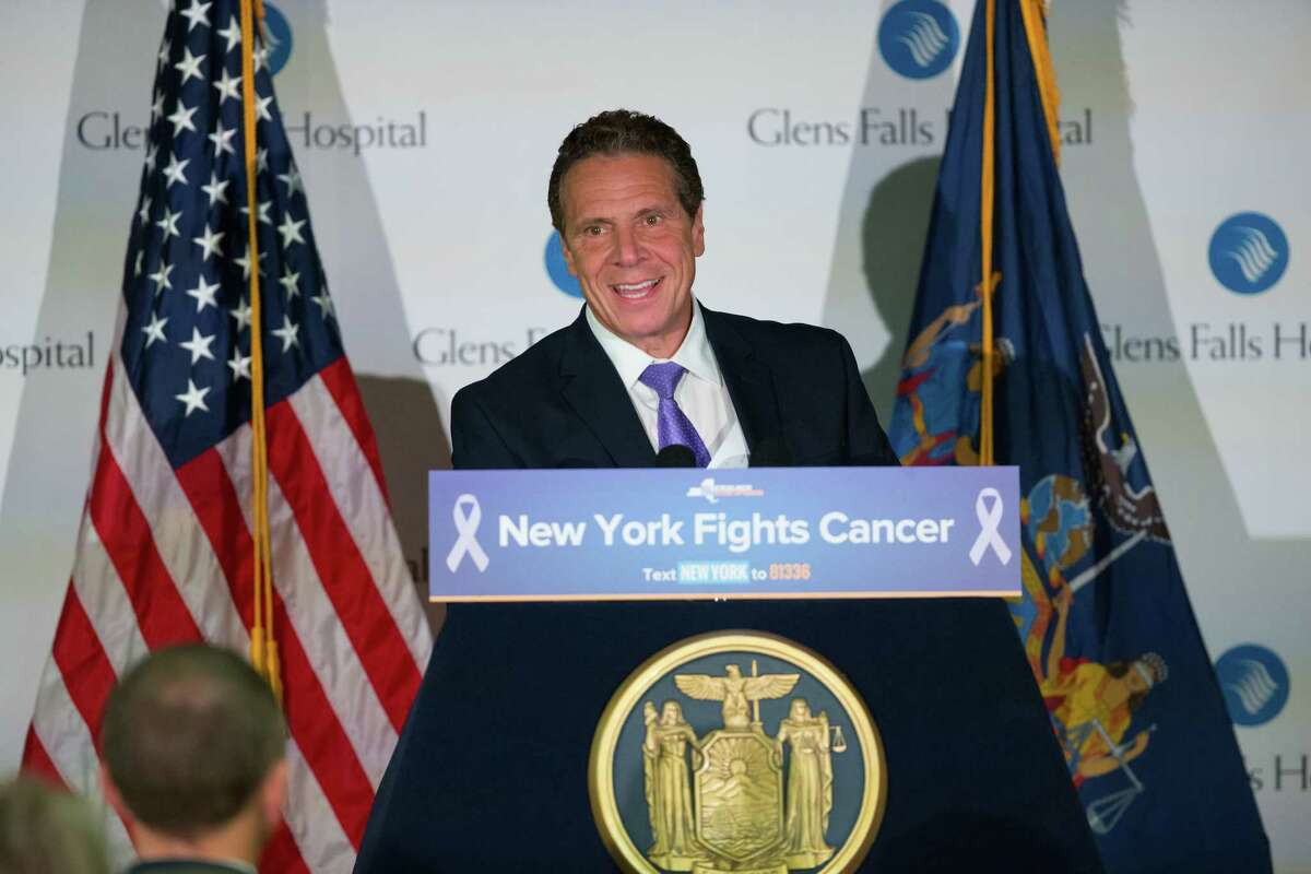 Gov. Andrew Cuomo announced a new initiative to examine cancer trends and the potential causes of cancer in four regions across the state on Wednesday Oct. 25, 2017, at Glens Falls Hospital in Glens Falls, N.Y. (Office of the Governor)