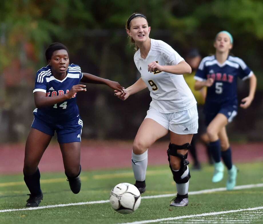 Law played crosstown rival Foran, to a 2-2 tie, Wednesday, Oct. 25, 2017, at Lawmen Stadium at Jonathan Law High School in Milford. Photo: Catherine Avalone, Hearst Connecticut Media / New Haven Register
