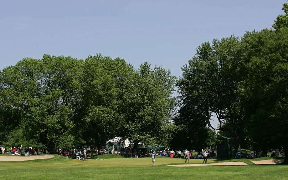 CROMWELL, CT - JUNE 25:  A general view of the seventh hole during the second round of the Travelers Championship held at TPC River Highlands on June 25, 2010 in Cromwell, Connecticut.  (Photo by Michael Cohen/Getty Images) Photo: Michael Cohen, Getty Images / 2010 Getty Images