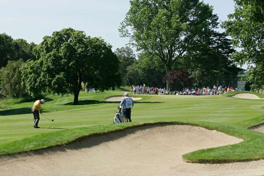 CROMWELL, CT - JUNE 25:   A general view of the second hole during the second round of the Travelers Championship held at TPC River Highlands on June 25, 2010 in Cromwell, Connecticut.  (Photo by Michael Cohen/Getty Images) Photo: Michael Cohen, Getty Images / 2010 Getty Images
