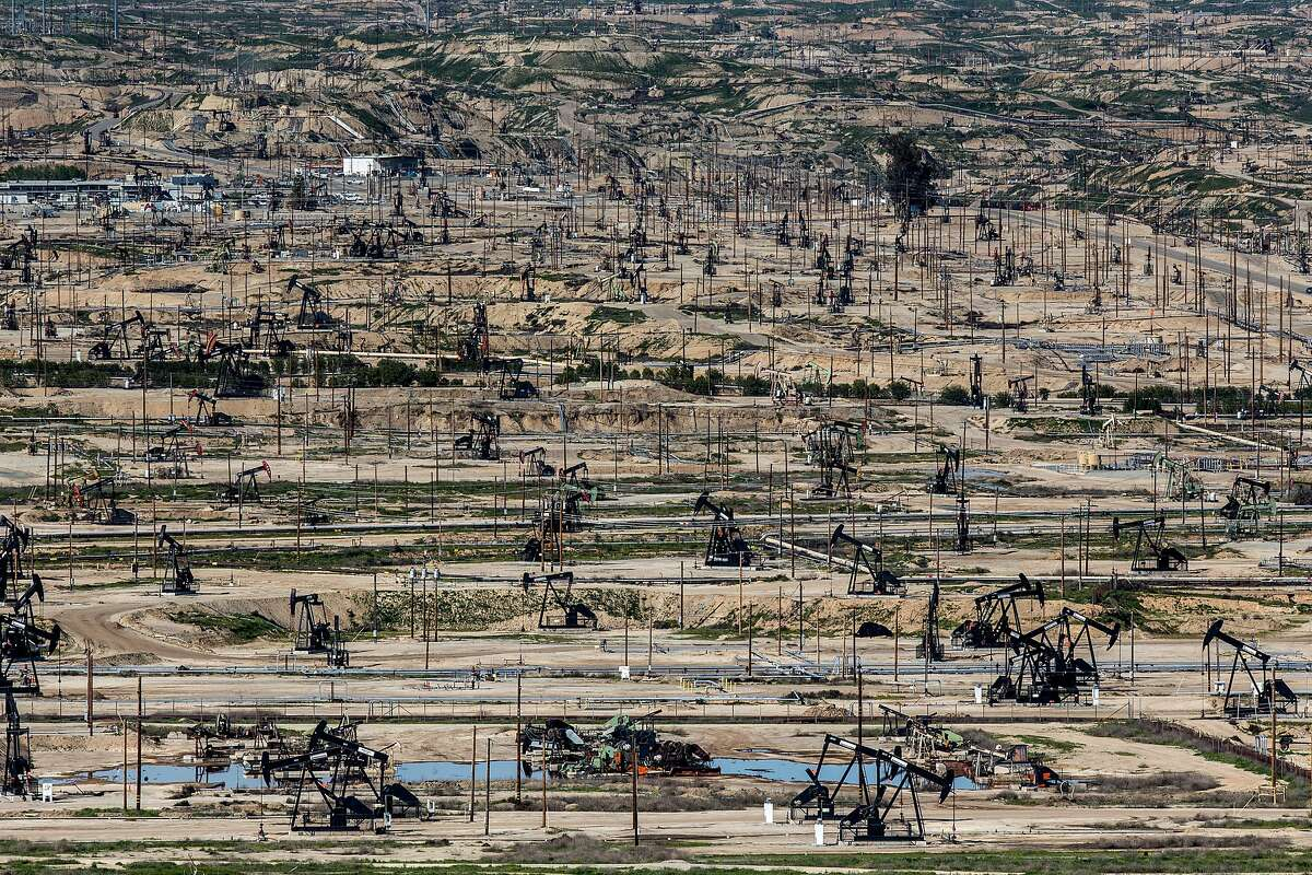 An oilfield in Bakersfield - Kern County has approved new regulations that will speed up the permitting of new wells.