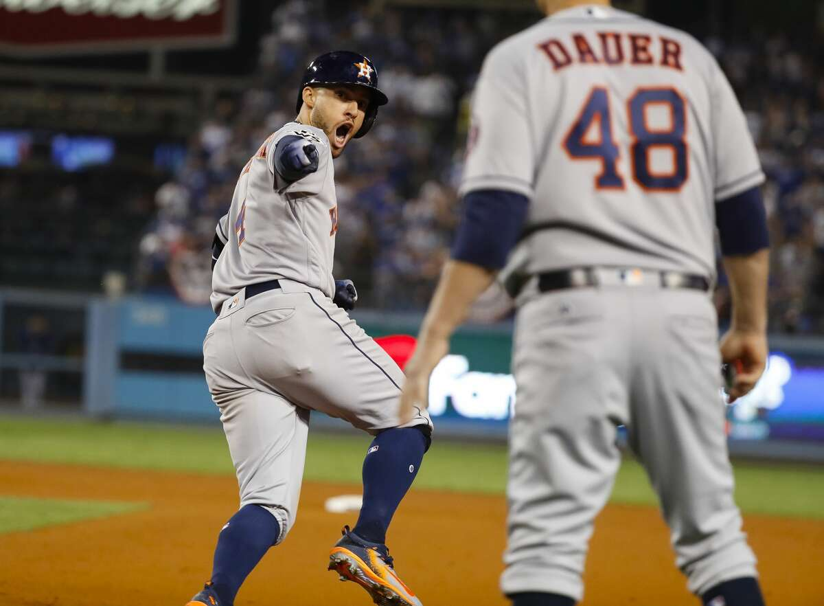 GRADING THE ASTROS AFTER THEIR GAME 2 WIN Top third of order After George Springer didn't look like himself in Game 1, he came alive a night later. Springer, Alex Bregman and Jose Altuve combined to go 6-for-17 (.353) with four RBIs, two doubles and two home runs, including Springer's game-winner in the 11th. Grade: A-plus