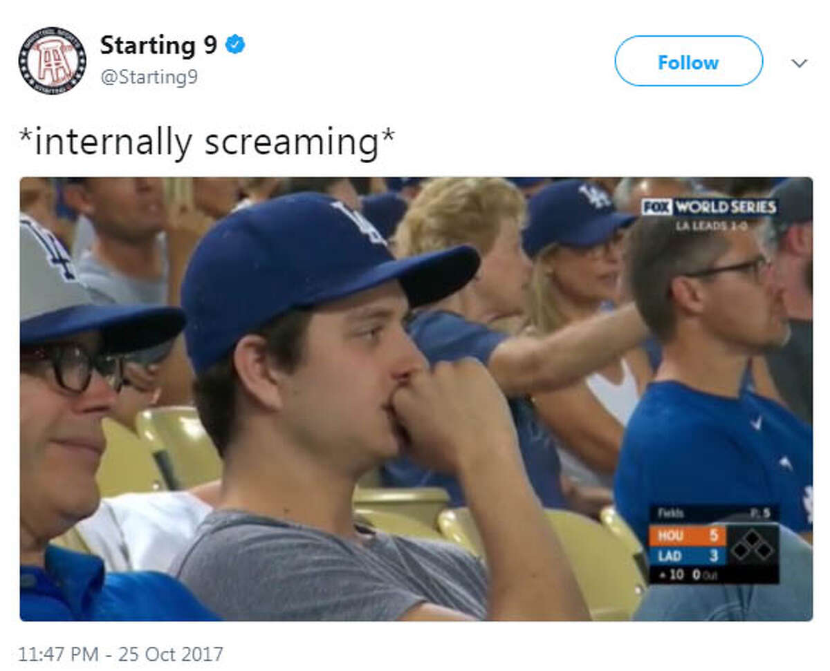 PHOTOS: A look at the best reactions on Twitter to Game 2 of the World Series The best memes from Game 2 of the Astros-Dodgers World Series.