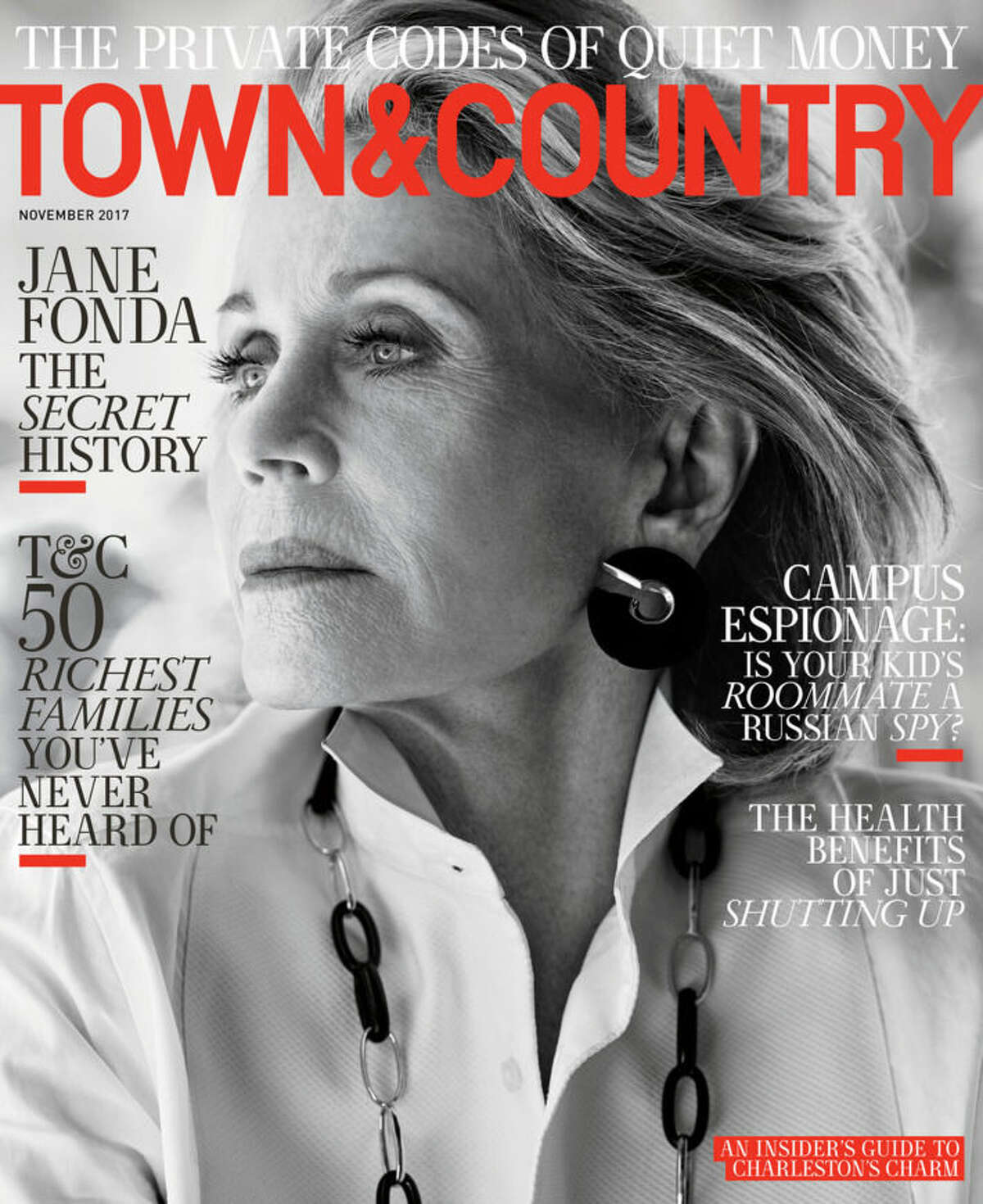 Jane Fonda on the cover of Town & Country magazine for November 2017.