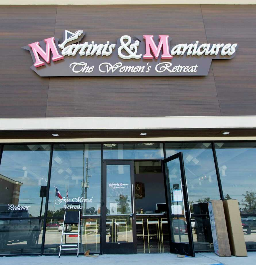 Martinis & Manicures is seen as items are moved into place prior to the business' grand opening on Oct. 21. Photo: Jason Fochtman, Staff Photographer / © 2017 Houston Chronicle