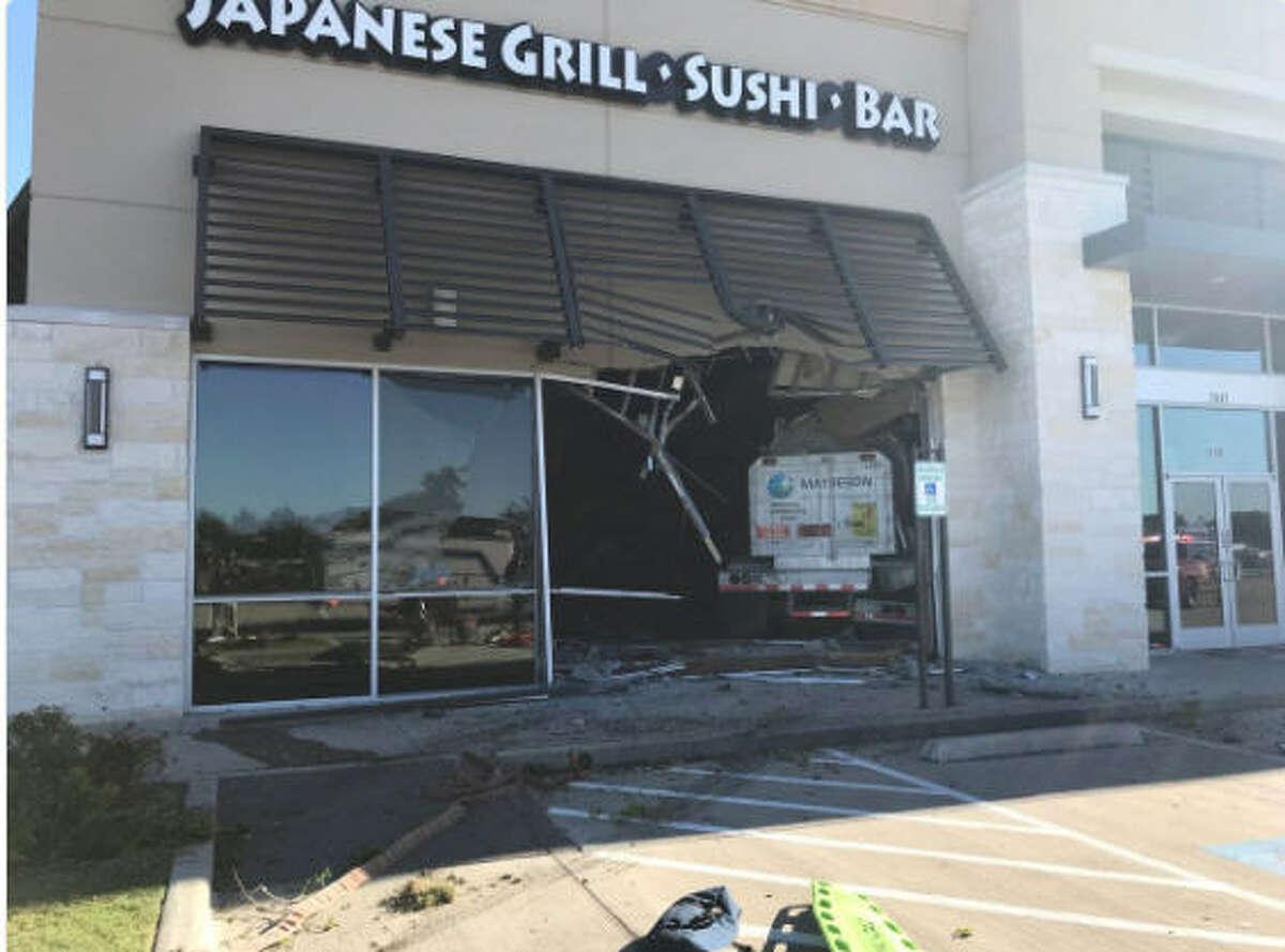 An 18-wheeler truck crashed inside of a Richmond, Texas restaurant on Oct. 26, 2017.