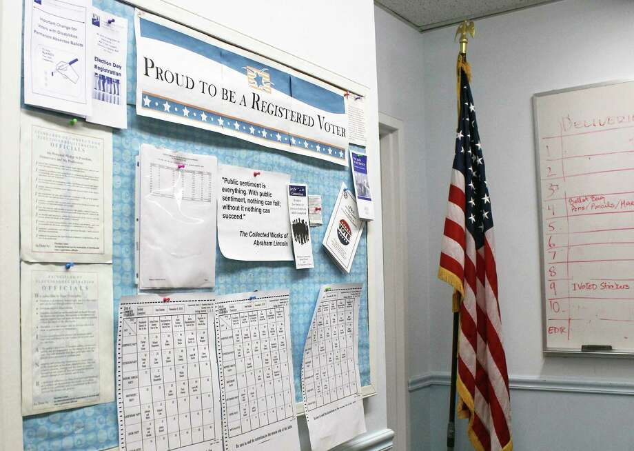 Information on where and when to vote on Nov. 7 can be found at the Registrar of Voters page on the town's website, fairfieldct.org. Photo: Hearst Connecticut Media File Photo / Fairfield Citizen