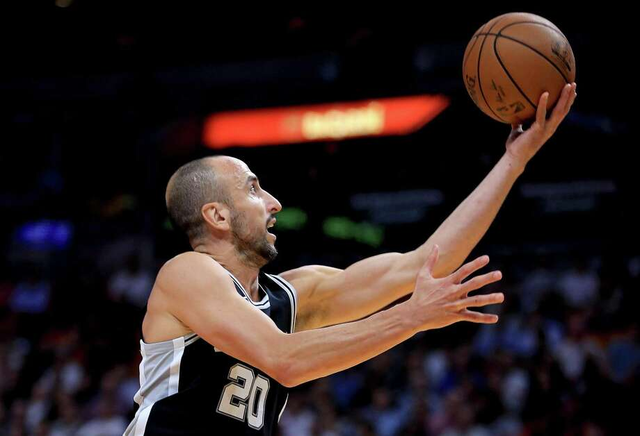 Veteran guard Manu Ginobili says the Spurs are focused on getting better every game as they head into tonight's game against Golden State on a three-game losing streat. Photo: Mike Ehrmann /Getty Images / 2017 Getty Images