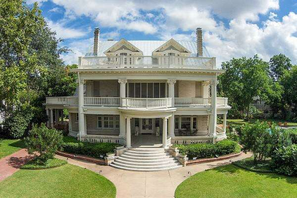 The grand home at 119 E. Kings Highway was designed by prominent San Antonio architect Atlee B. Ayres and constructed in 1911.