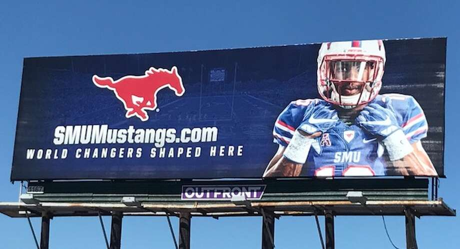 SMU has placed a billboard directly in UH's backyard. Photo: Joseph Duarte/Houston Chronicle