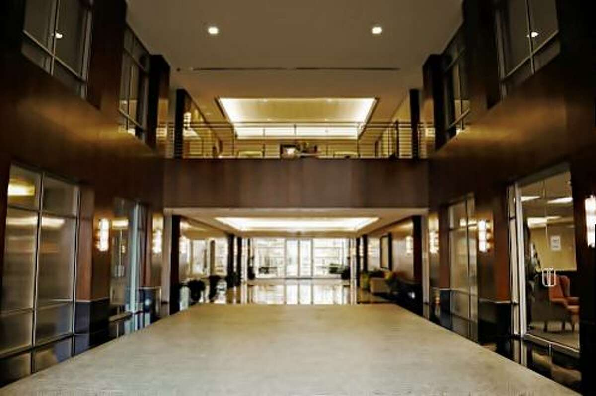 Inside the two-story, multi-tenant office building Commerce Green Office Park, 245 Commerce Green Blvd, Sugar Land.