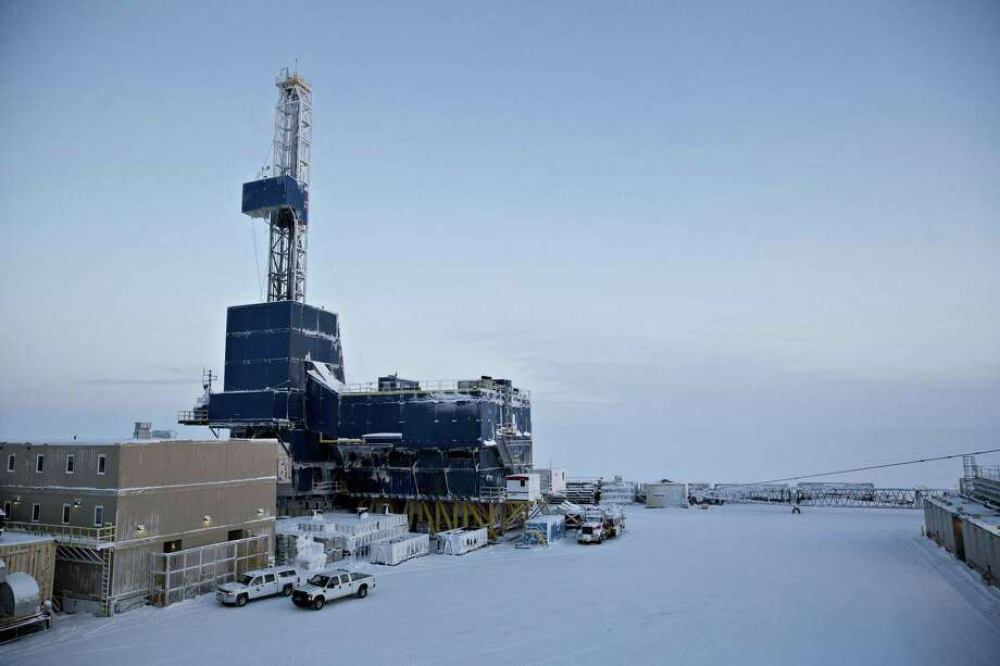 A oil drilling rig stands at the Caelus Energy LLC Oooguruk Development Project in Harrison Bay, Alaska, U.S., on Friday, Feb. 17, 2017. Last week, Senate Republicans sparked an uproar from environmentalists and their Democratic allies after voting to raising revenue by drilling for oil in the Arctic National Wildlife Refuge in the northeast corner of Alaska. Though pushed for years by Alaska's congressional delegation, tapping that land, set aside for caribou herds and other wildlife, is still not a sure thing. Photo: Daniel Acker /Bloomberg / © 2017 Bloomberg Finance LP