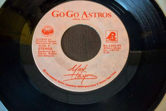 "Mack Hayes recorded ""Go, Go Astros"" in 1980 and it became the team's fight song throughout much of the 1980s."