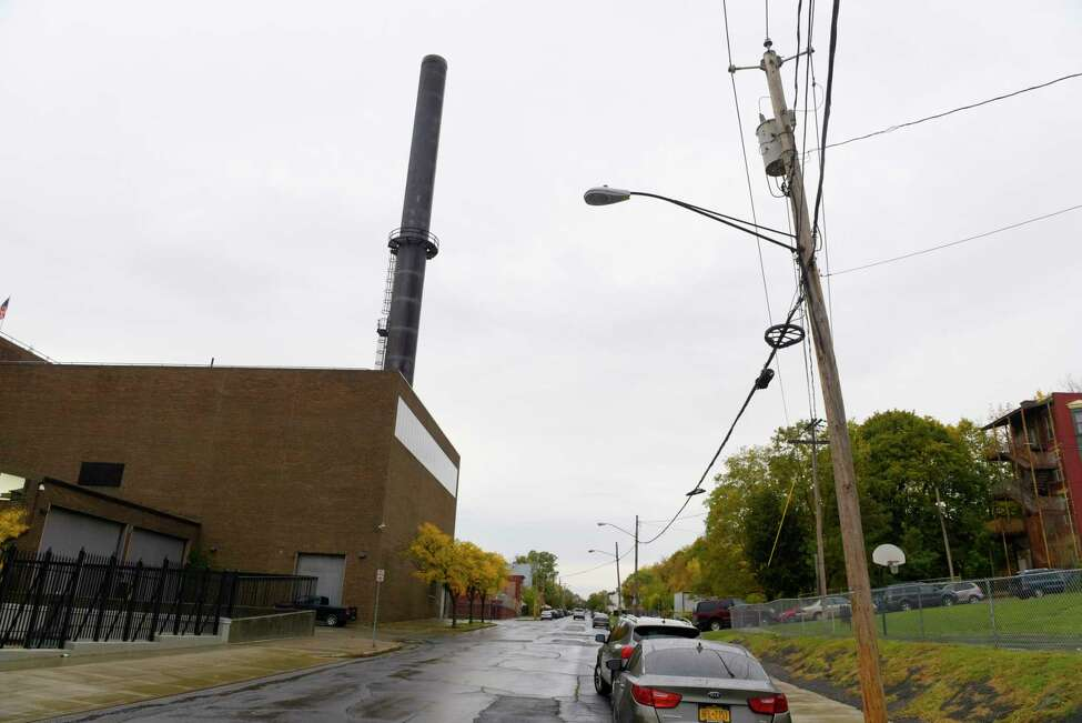 A view of the former trash incinerator site on Orange Street, seen here on Thursday, Oct. 26, 2017, in Albany, N.Y. (Paul Buckowski / Times Union)