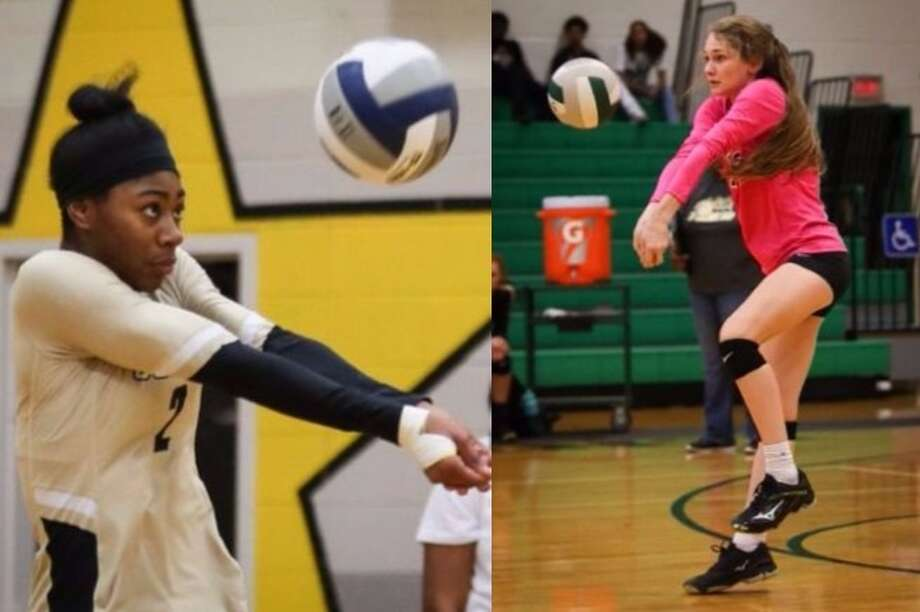 Conroe volleyball players Neena Brenson, left, and Sydney Walling. Photo: The Courier