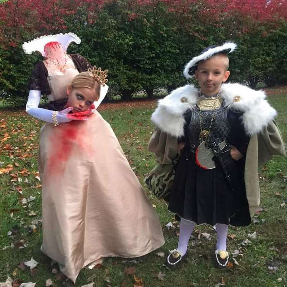 "HENRY AND ANNE ""My friend's kids' Halloween costumes. Yes, they were Henry VIII and Anne Boleyn."" Photo: Awkward Family Photos"
