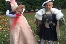 "HENRY AND ANNE ""My friend's kids' Halloween costumes. Yes, they were Henry VIII and Anne Boleyn."""
