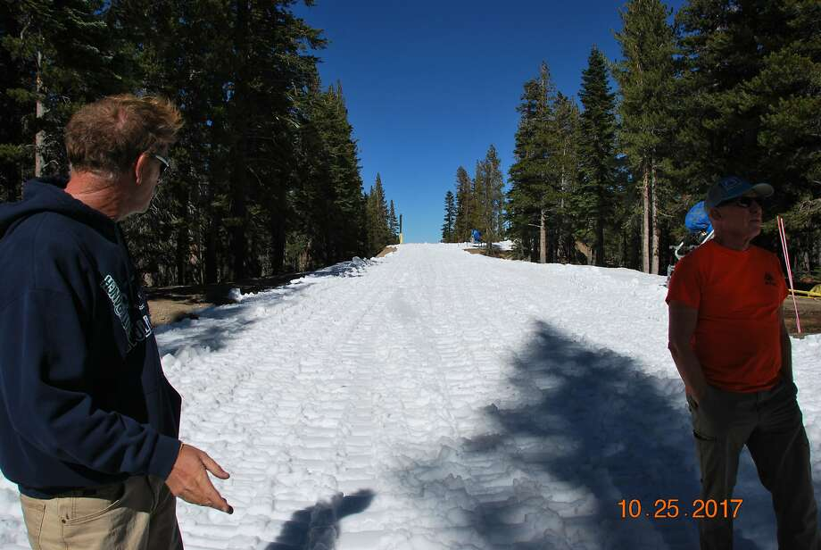 Mt. Rose will be the first Tahoe ski resort to open for the 2017-18 season, albeit in a very limited capacity. The North Tahoe resort will offer one beginner hill on Friday and Saturday, Oct. 27 and Oct. 28, from 8 a.m. until noon. Photo: Courtesy Of Mt. Rose