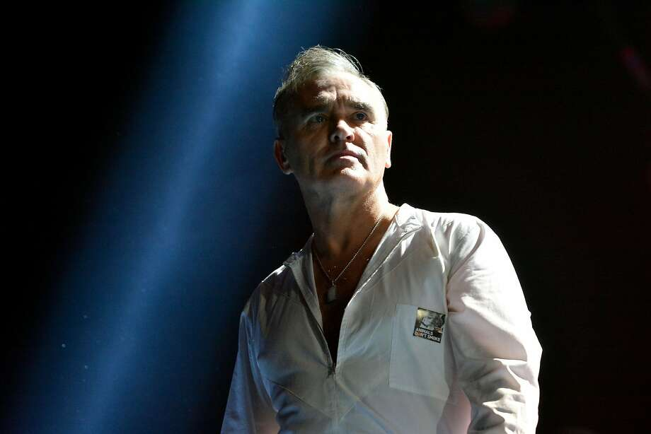 """The 58-year-old Manchester icon and notorious hater of shirts (best known as the former singer for the Smiths) has a new album to promote, """"Low in High School,"""" which should boost the odds of seeing him take the stage at his advertised appearance at the Masonic in San Francisco on Saturday, Nov. 4. Photo: Jim Dyson, WireImage"""