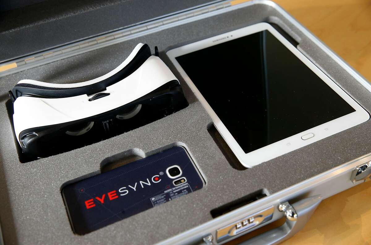 The Eyesync optical scanner kit is seen in Palo Alto, Calif. on Thursday Oct. 26, 2017 which tracks eye movements to determine if there's a level of impairment.
