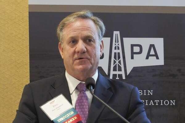 Ben Shepperd, PBPA president, speaks 10/26/17 at the Permian Basin Petroleum Association's luncheon. Tim Fischer/Reporter-Telegram