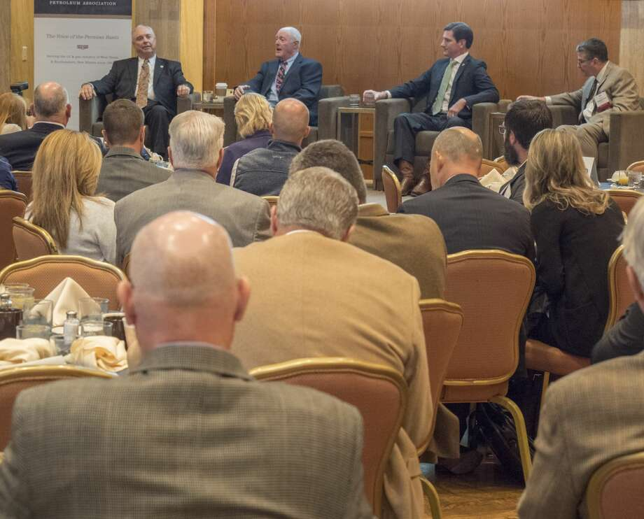 Rep Drew Darby, Sen Kel Seliger, Rep Brooks Landgraf and Sen Charles Perry speak 10/26/17 during the Texas legislative panel discussion during the 55th annual Permian Basin Petroleum Association meeting. Tim Fischer/Reporter-Telegram Photo: Tim Fischer/Midland Reporter-Telegram