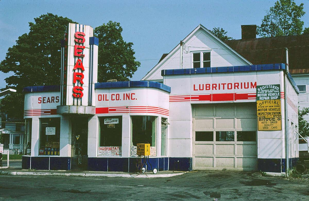 Sears gas station, North James Street, Rome, New York, 1983.