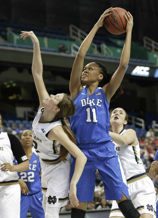 Duke transfer Azura Stevens will get the chance to play in front of UConn fans for the first time on Wednesday. Photo: The Associated Press File Photo / AP