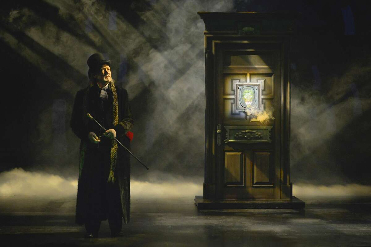 """James Carpenter as Ebenezer Scrooge (at select performances) in�American Conservatory Theater's�""""A Christmas Carol."""""""