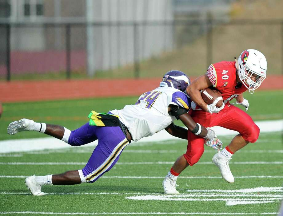 The high school football game between Greewich High School and Westhill High School at Greenwich, Conn., Saturday, Oct. 21, 2017. Greenwich defeated Westhill by a score of 60-15. Photo: Bob Luckey Jr. / Hearst Connecticut Media / Greenwich Time